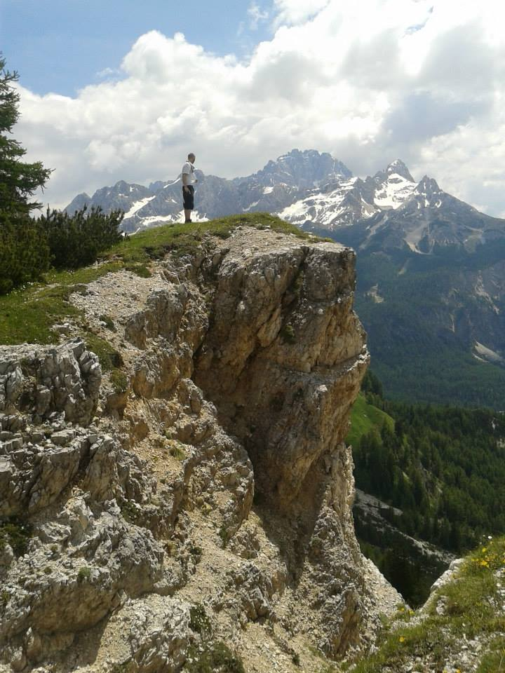 Dolomiten Höhenweg 9: Ausblick von der Forc de Zumeles